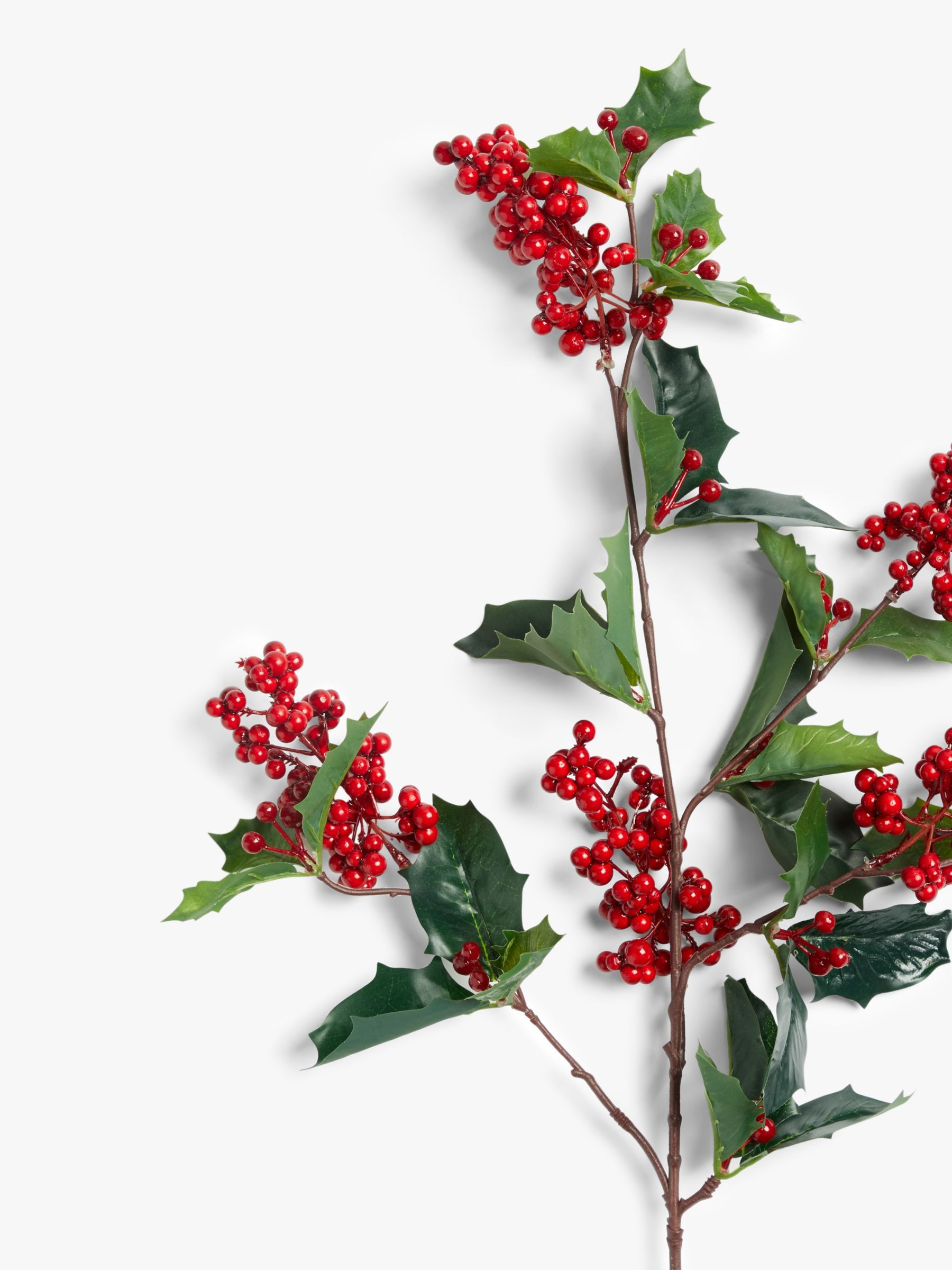 John Lewis & Partners Traditions Holly Berry Spray, Red in
