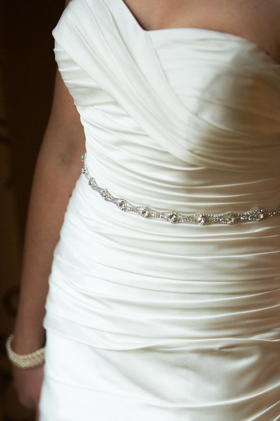 Bridal Sash Rhinestone Wedding Dress Crystal Belt Embellishment Lique