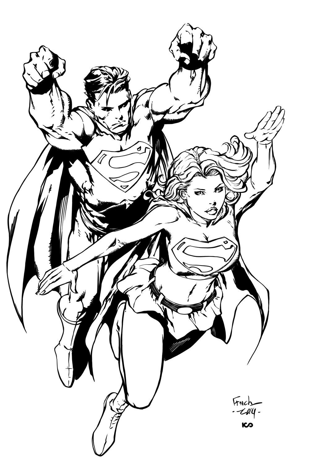 Superman & Supergirl by David Finch | Comics | Pinterest