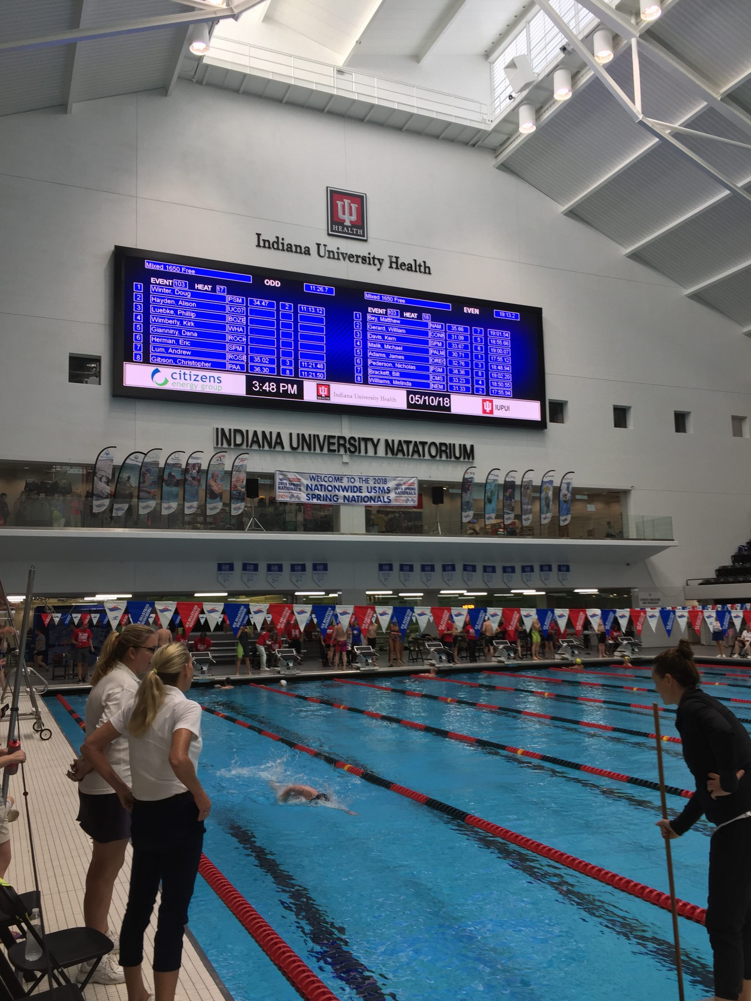 The 2018 U S Masters Swimming Usms National Championships Meet Continued Today In Indianapolis Indiana With Masters Swimming National Championship National