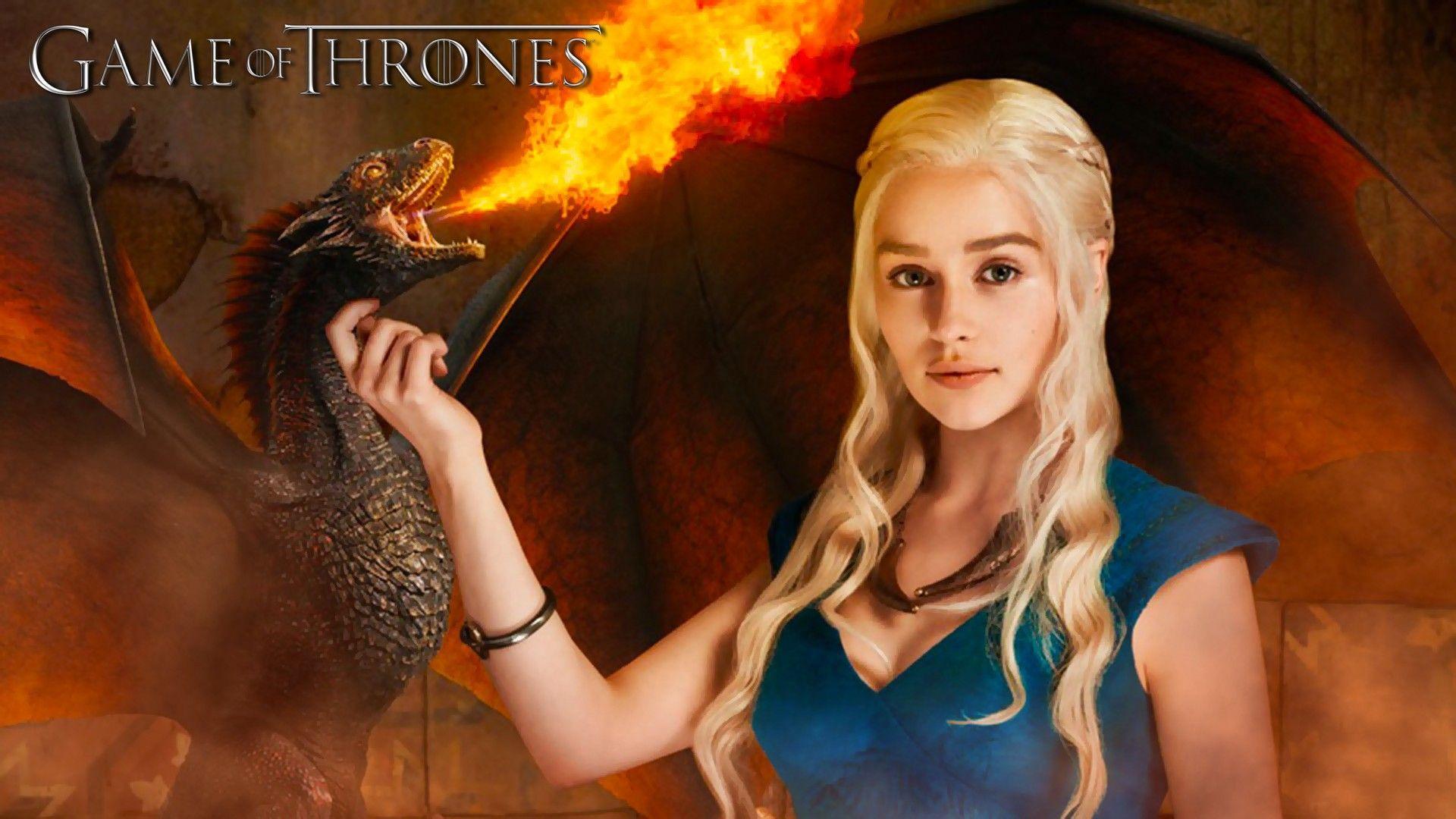 Emilia Clarke Beautiful Hd Wallpaper For Desktop Game Of Throne