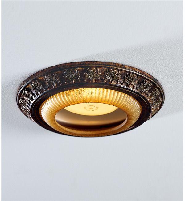 Acanthus Leaves Decorative Bronze Recessed Light Cap Ring Ideas