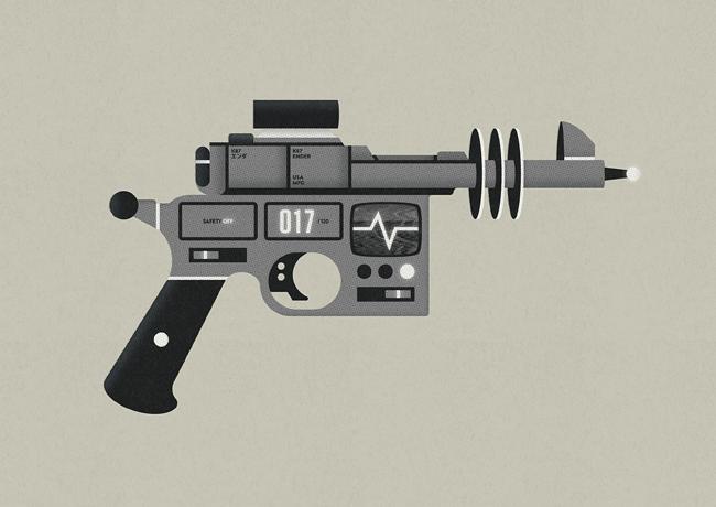 K87 Ender Cory Schmitz Png 650 460 Raygun Retro Futurism Guns Drawing