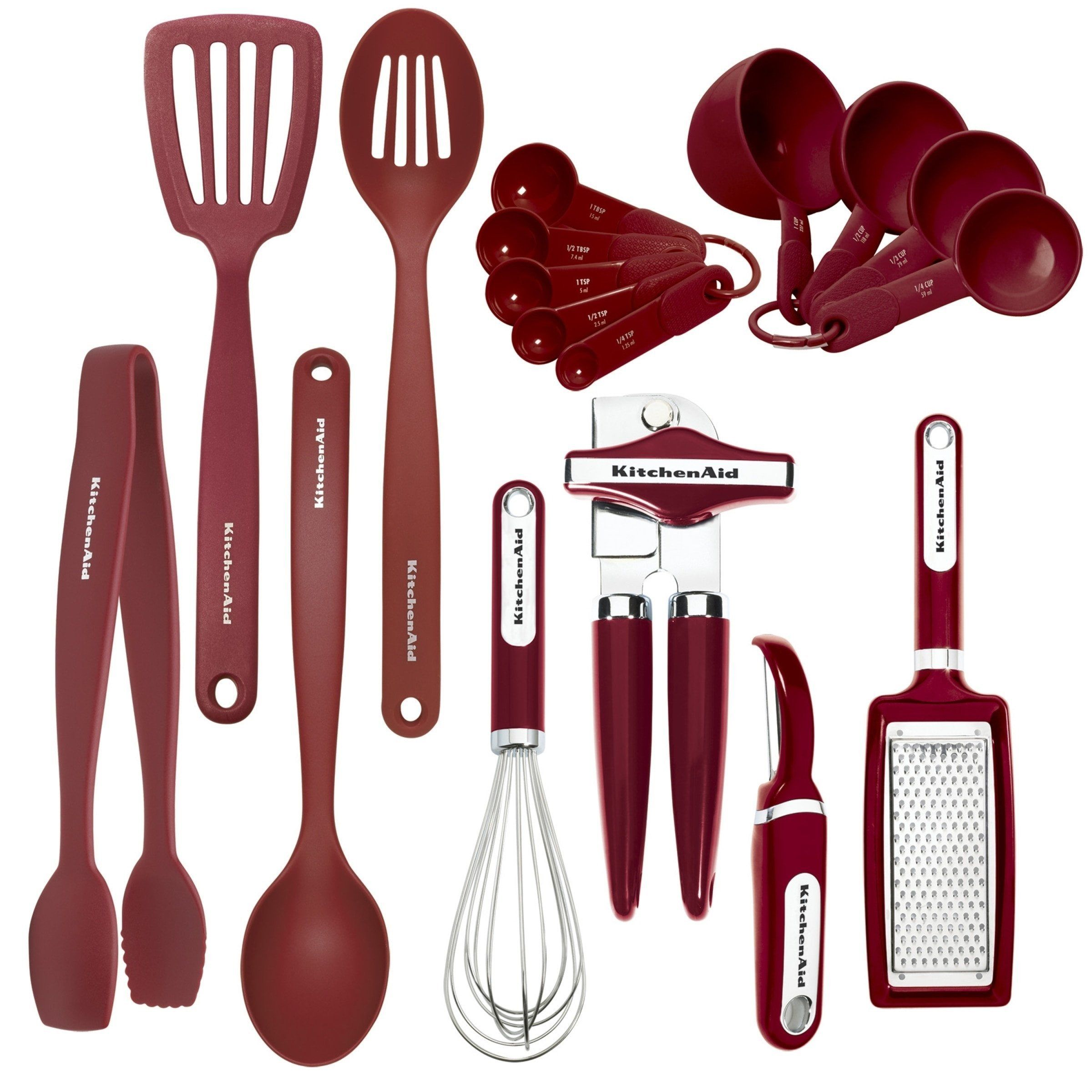 Kitchenaid 17piece red tool set in 2020 kitchen tools