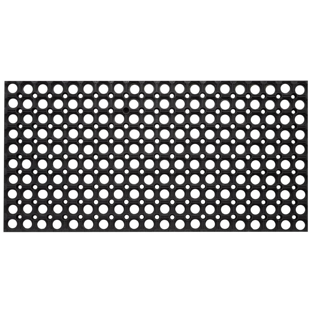 Envelor Durable Sturdy Anti Fatigue 32 In X 47 In Commercial Indoor Outdoor Multipurpose Drainage Rubber Collection Floor Mat Black Rubber Flooring Rubber Floor Mats Floor Mats