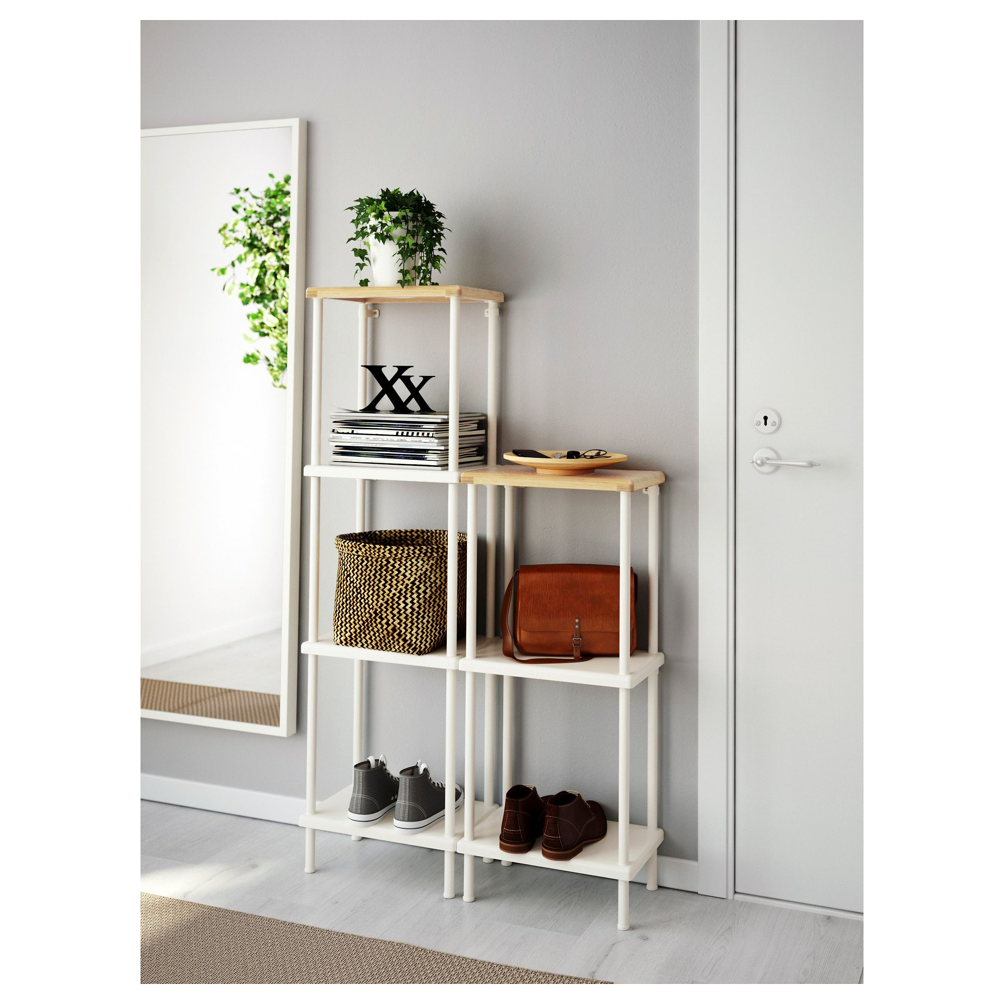 dynan shelf unit white bamboo pattern in 2019 products ikea rh pinterest com