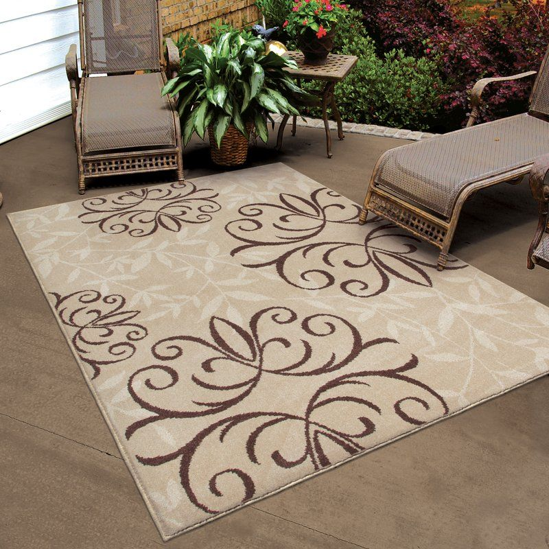 Fleur De Lis Living Adrian Whisper Beige Indoor Outdoor Area Rug