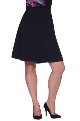 5d857d4db7 Plus Size Fit and Flare Skirt in Black | MYNT 1792 | Pre-Fall 2014 ...