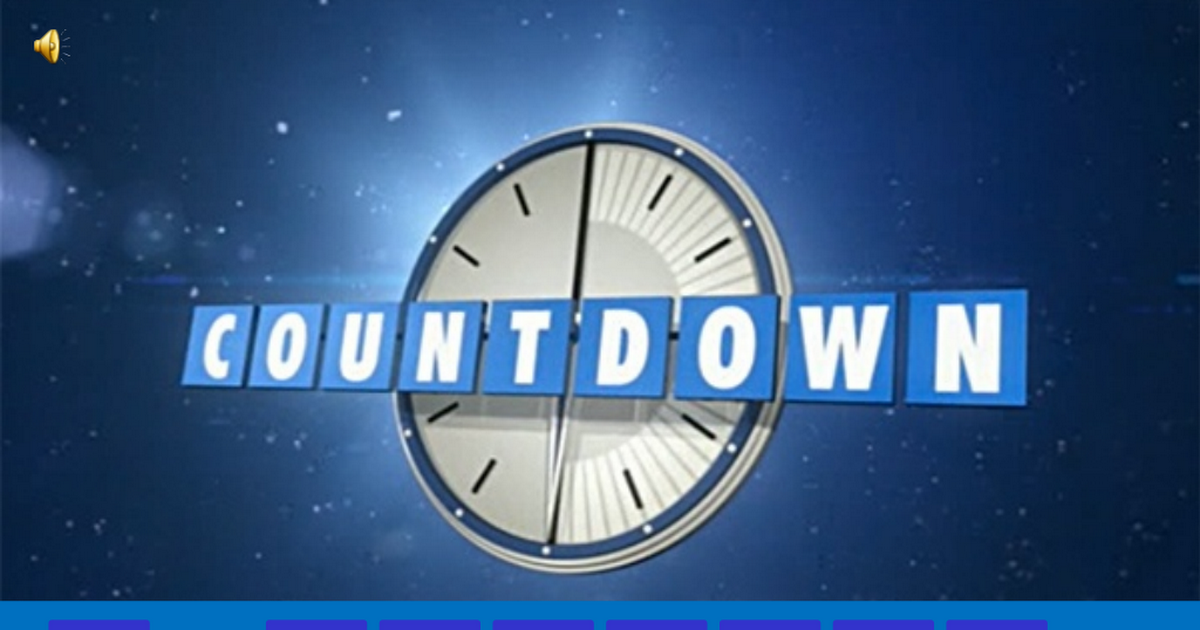 Countdown conundrum editable template with instructions