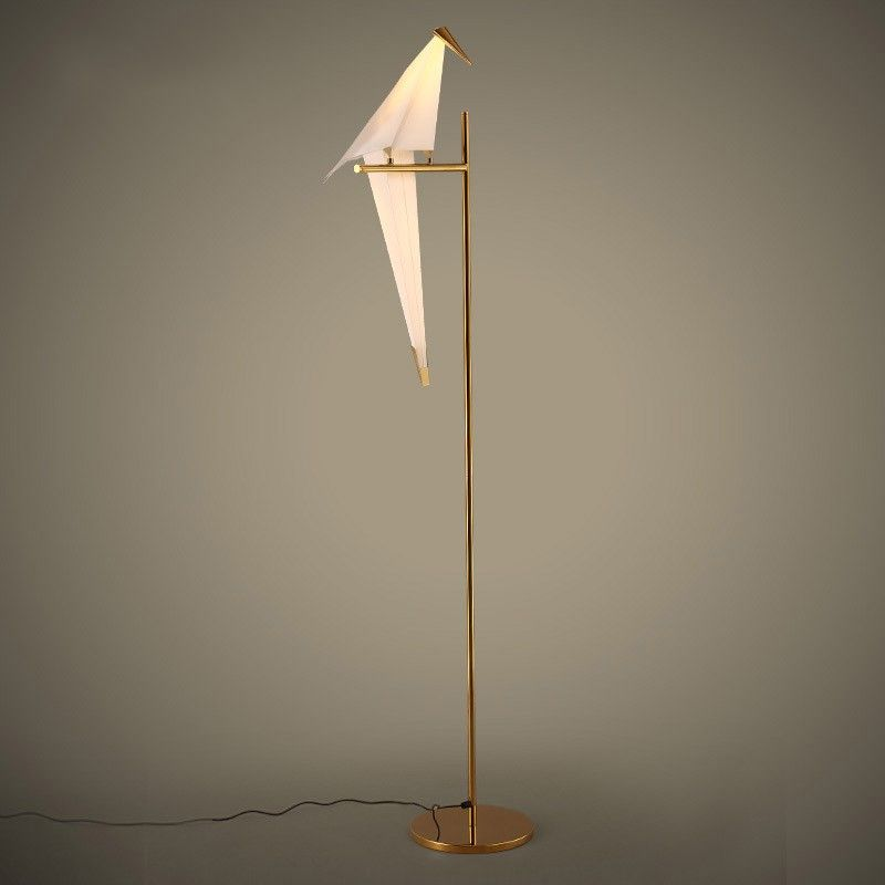 artistic perch accent light metal 1light floor lamp with authentic birdshaped shade