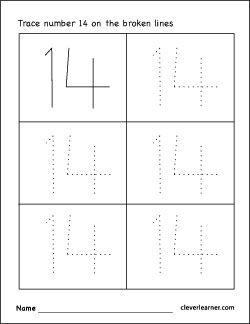 Printable number 13 worksheets for kids | ΔΟΥΛΕΙΑ | Pinterest