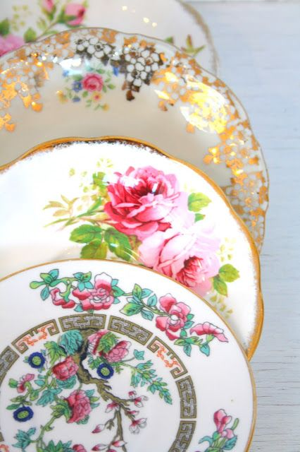 Madelief Vintage China Plates.
