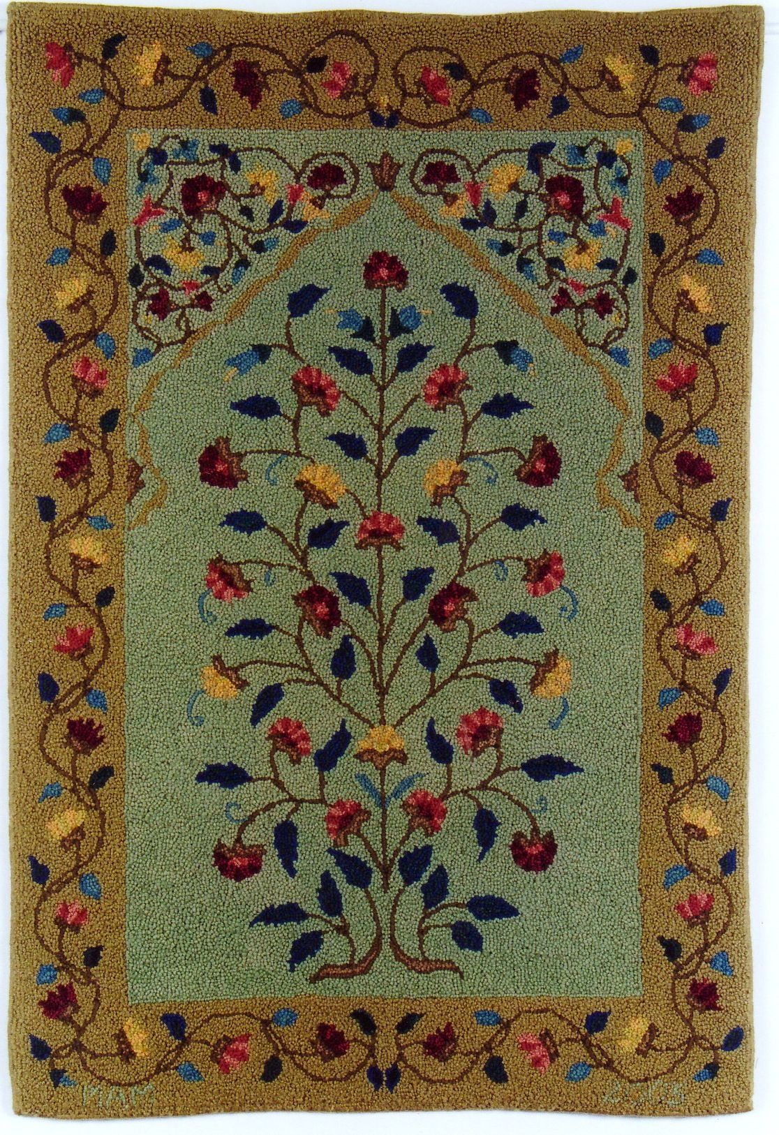 Persian prayer rug size