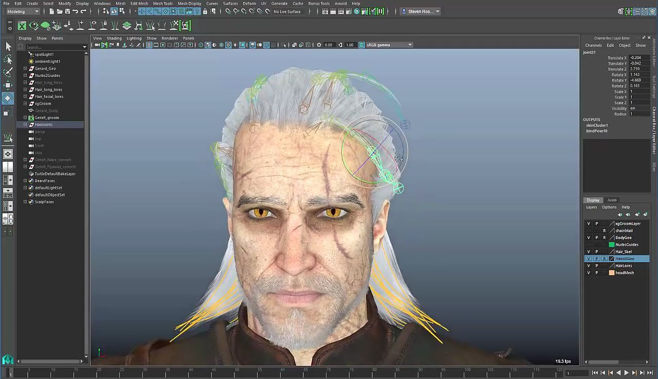 Maya 2017: Xgen For Game Character Hair, Maya, Autodesk, 3d, 3d