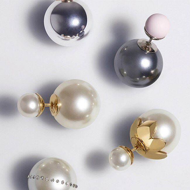Pandora Grey Pearl Earrings: Just In! Mise En #Dior Tribal Earrings In Grey And Pink