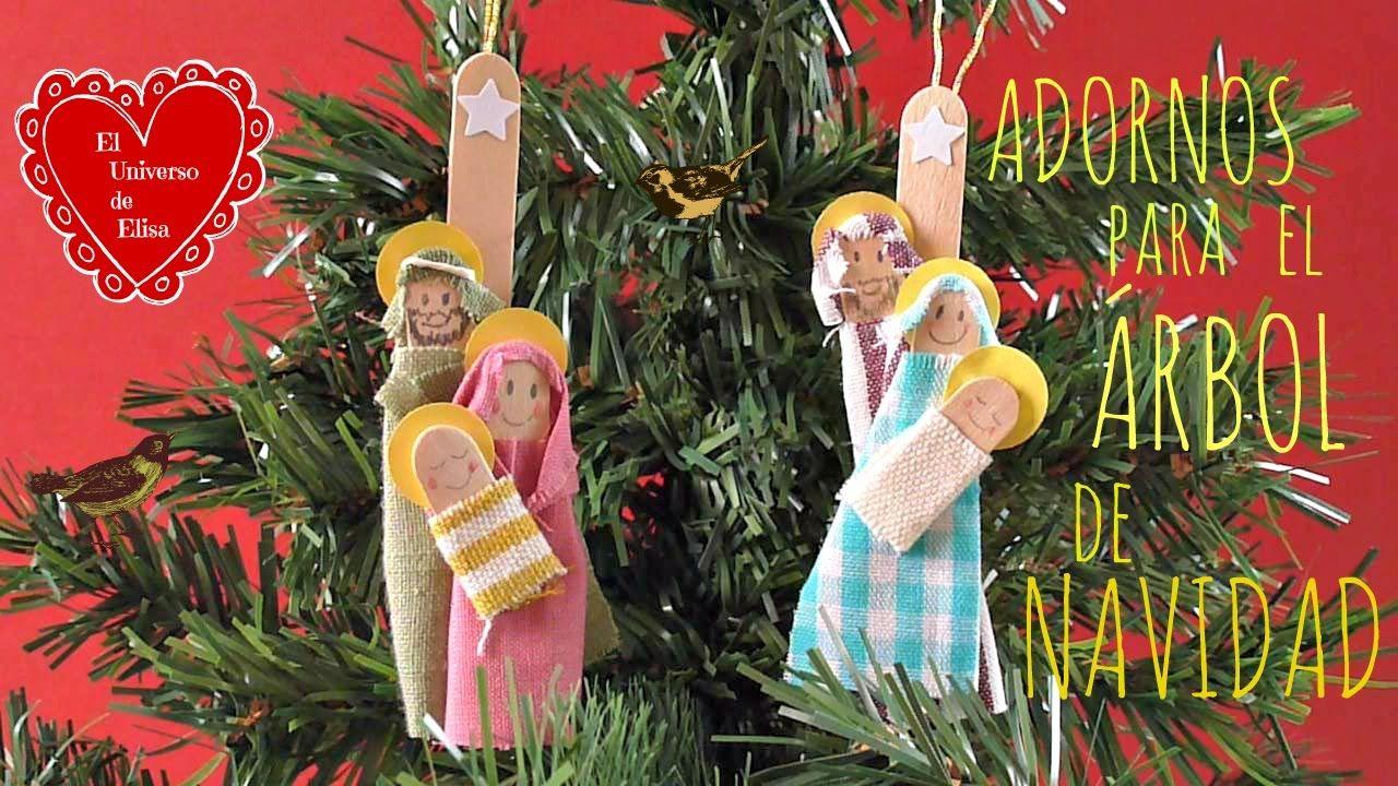 Manualidades para navidad c mo hacer una sagrada familia - Adornos navidenos caseros para ninos ...