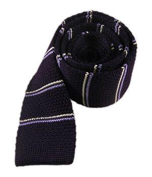 Knarrow Knit Stripe - Eggplant