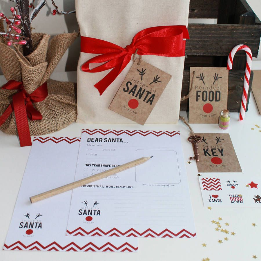 Our Letter To Santa Set Includes Everything Kids Need To Write To Santa And Get A Personalised Letter Delivered From The Big Ma Personalized Letters From Santa