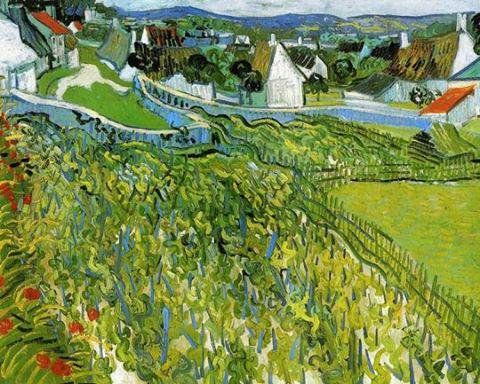 Vincent Van Gogh「Vines with View of Auvers」(1887)