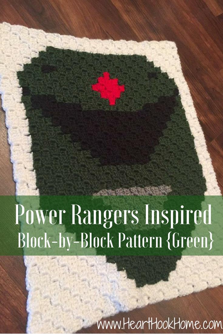 Power Rangers Inspired Bock-by-Block Crochet Pattern (Green)