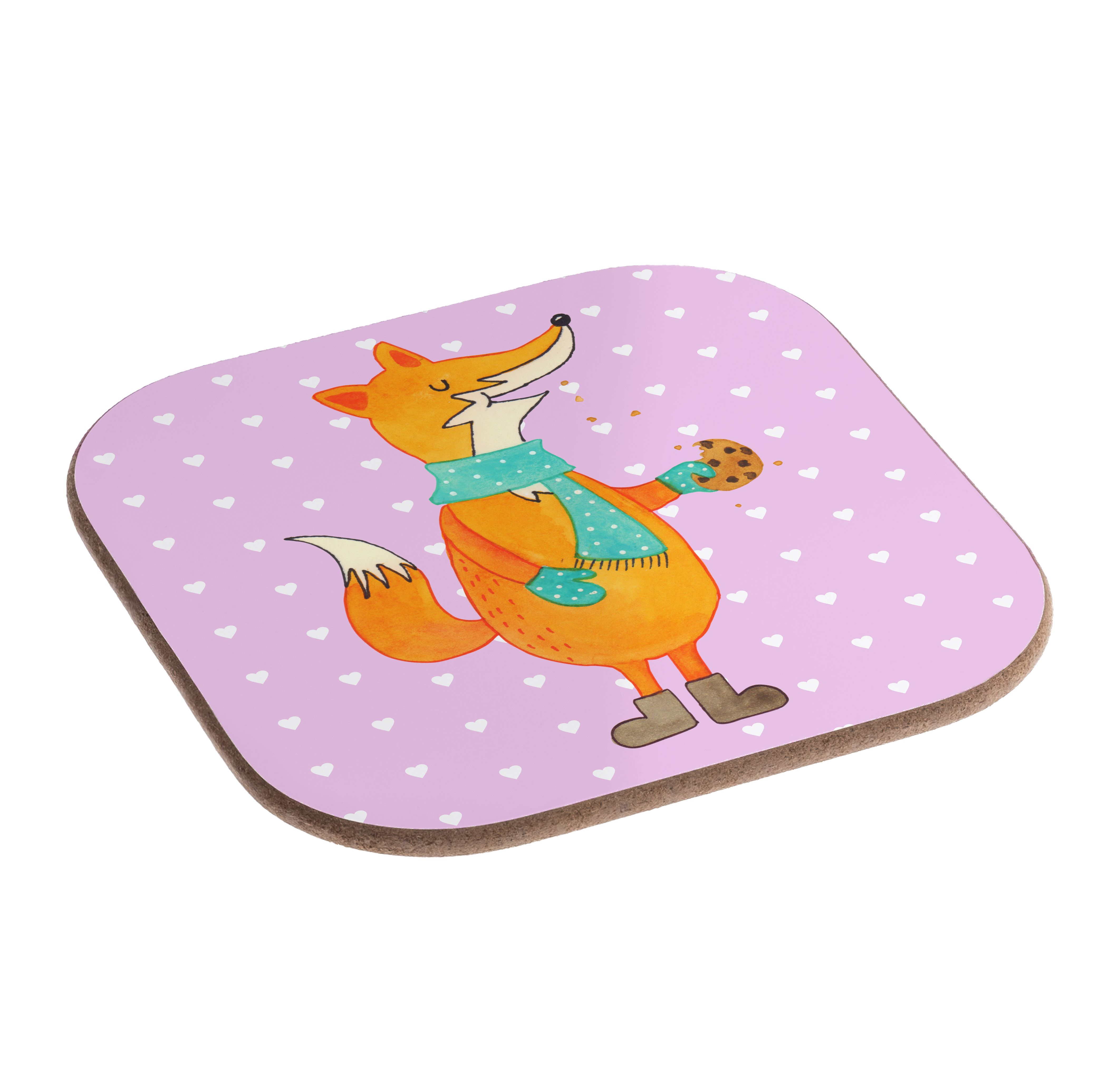 Quadratische Untersetzer Fuchs Keks aus Hartfaser  natur - Das Original von Mr. & Mrs. Panda.  Dieser wunderschönen Untersetzer von Mr. & Mrs. Panda wird in unserer Manufaktur liebevoll bedruckt und verpackt. Er bestitz eine Größe von 100x100 mm und glänzt sehr hochwertig. Hier wird ein Untersetzer verkauft, sie können die Untersetzer natürlich auch im Set kaufen.    Über unser Motiv Fuchs Keks  Die Fox-Edition ist eine besonders liebevolle Kollektion von Mr. & Mrs. Panda. Jedes Motiv ist…
