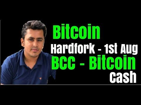 Cryptocurrency hardfork of bitcoin on august 1st 2020