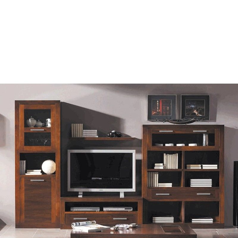 Muebles para salones comedores - nogal | Muebles para salon, Salon ...
