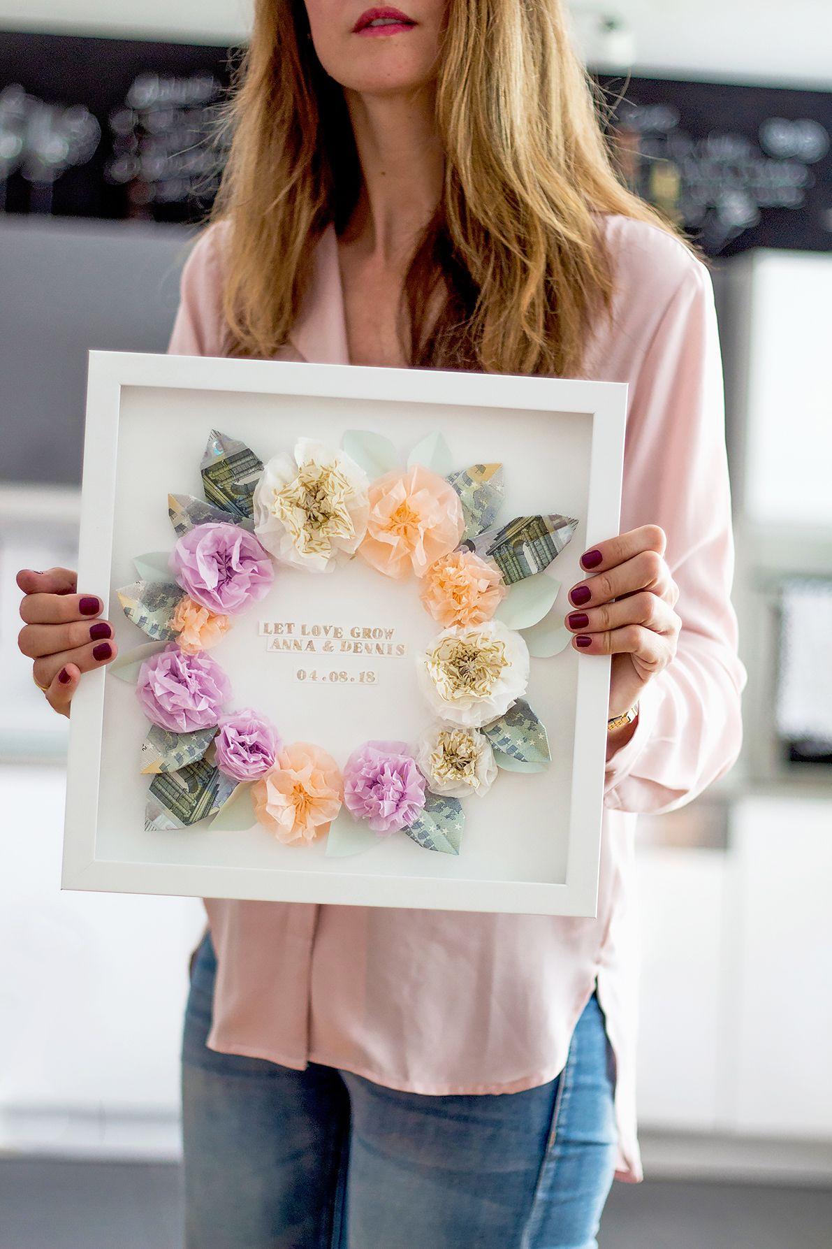 DIY Geschenkidee Geldgeschenk fr Hochzeit und Geburtstag  Sammydemmy DIYs  Diy geschenke