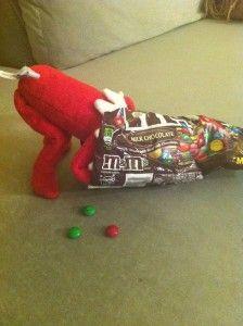 Cute Elf on the Shelf Idea...Eating the MM's