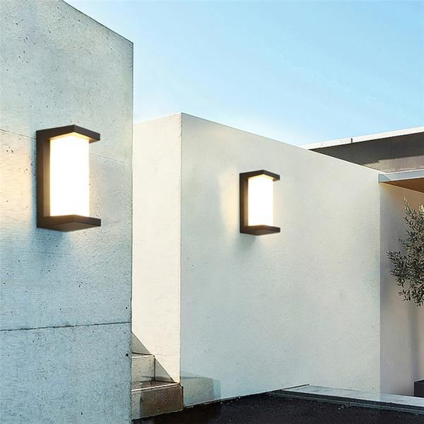 Hugo Modern Led Outdoor Light With Images Diy Outdoor
