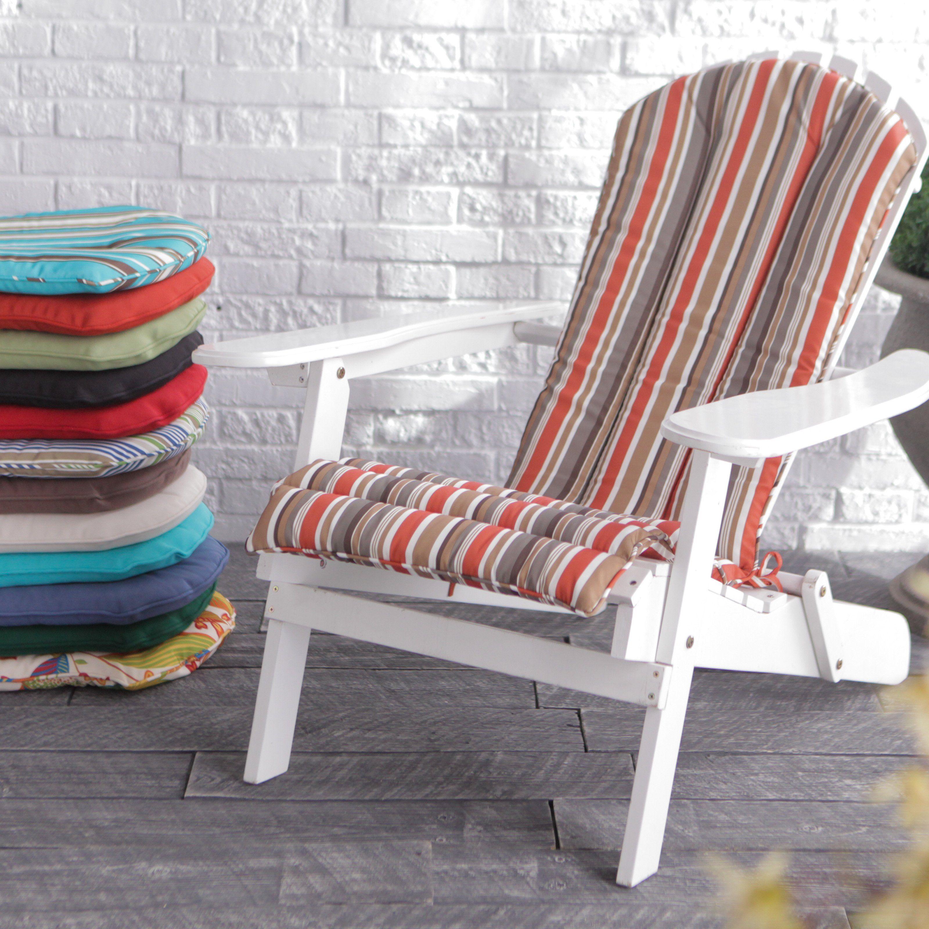 Coral coast adirondack chair cushion