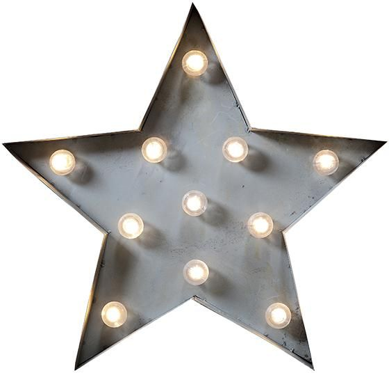Marquee Light-Up Star - Metal Wall Decor - Led Lamps - Light-up ...