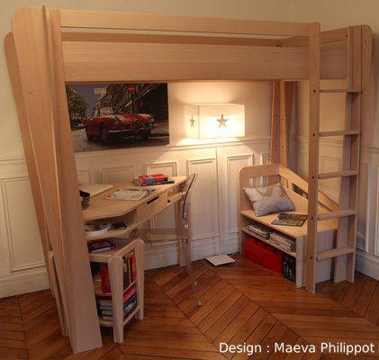 le lit trap ze de zinezo fabriquant fran ais de mobilier design cologique en bois massif ce. Black Bedroom Furniture Sets. Home Design Ideas