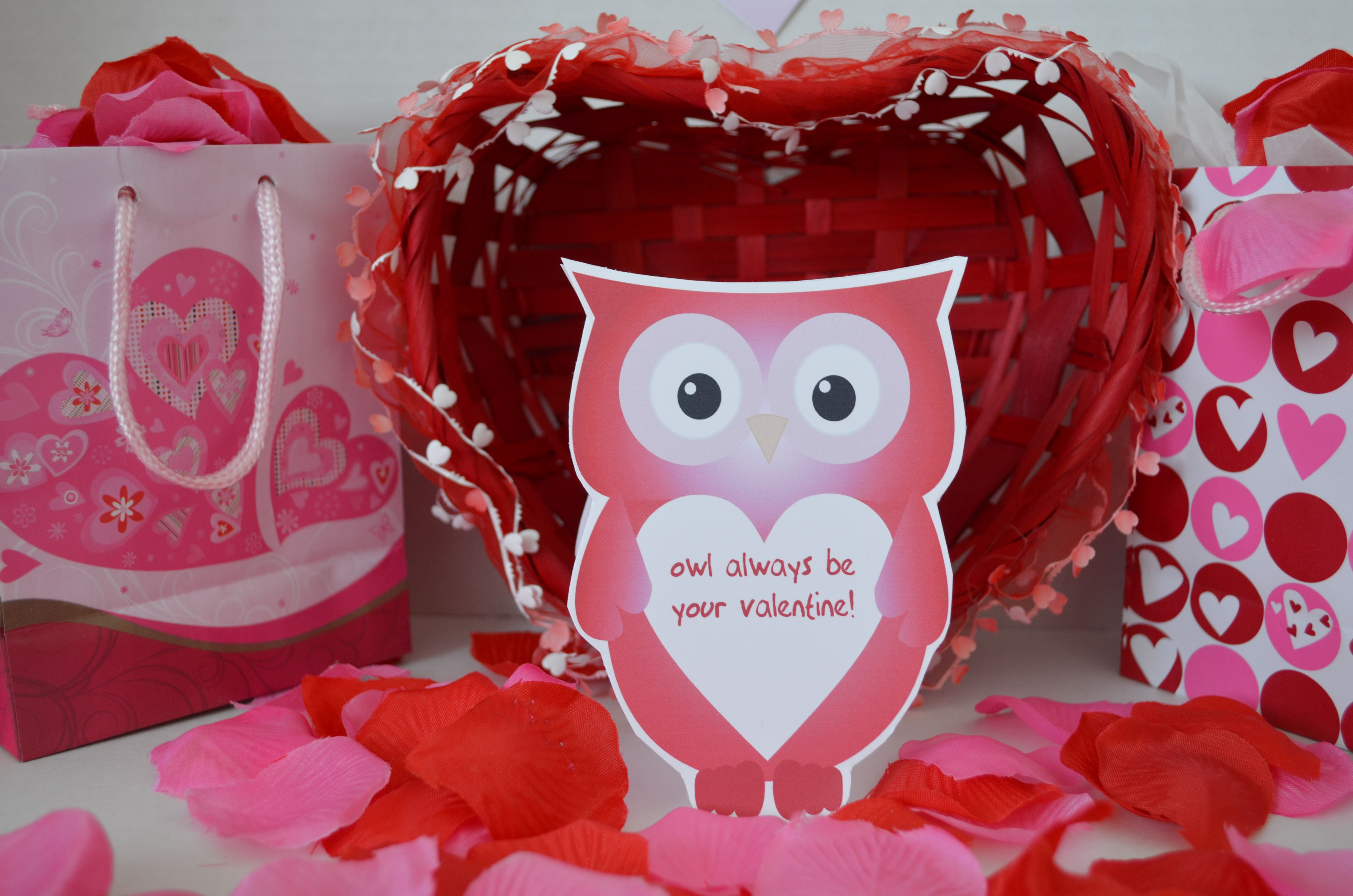 Owl Shaped Valentine S Day Cards
