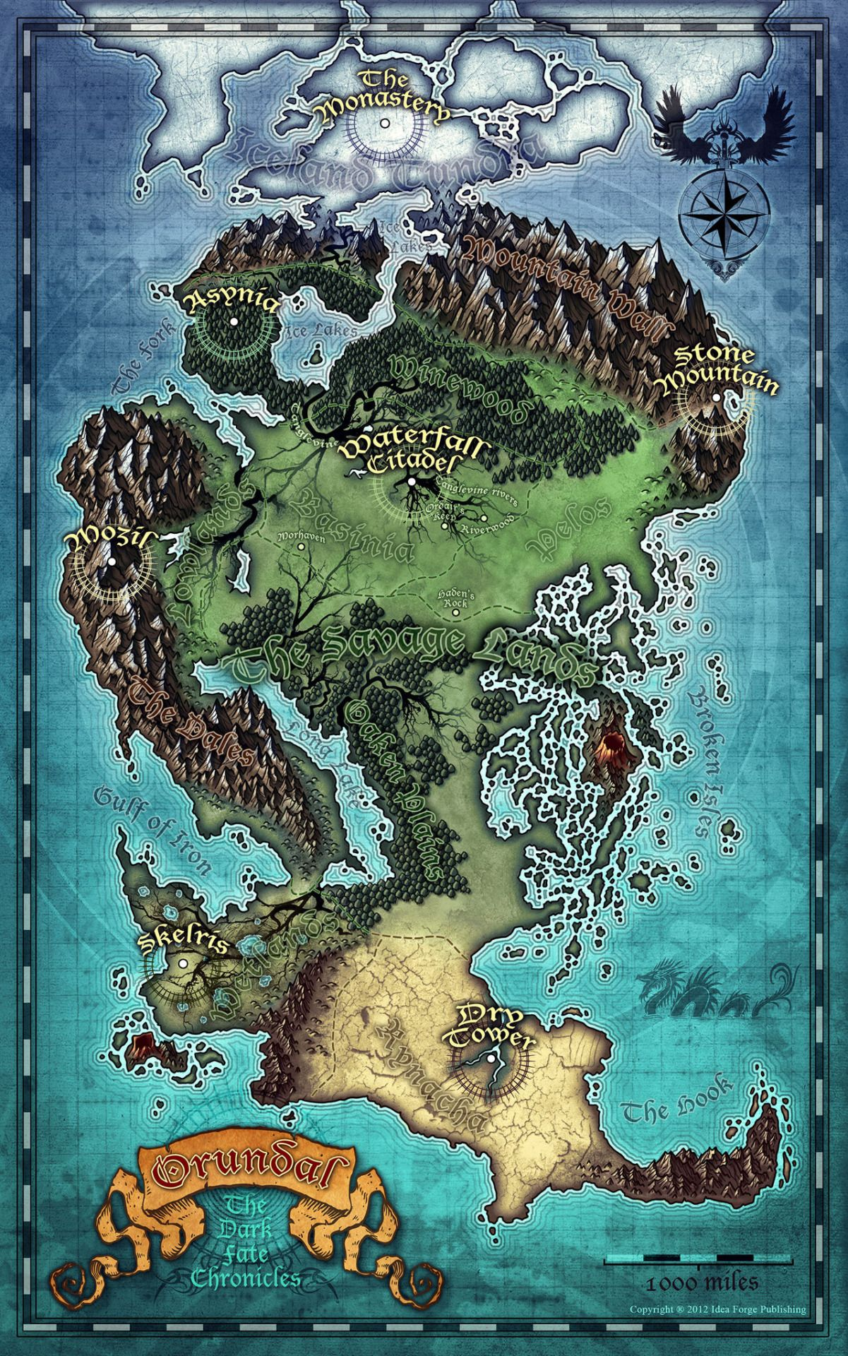 Fantasy places Worlds Nest maps of