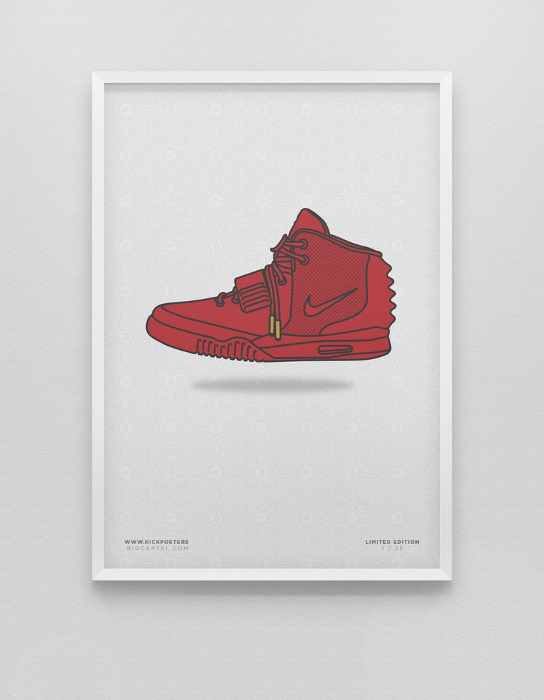 ba45a3e0632 Yeezy 2 Red October  illustration  sneakers