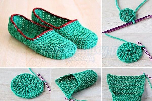 Pomyslodawcy Pl Serwis Bardziej Kreatywny Diy Slippers Diy Crochet Slippers Crochet Shoes