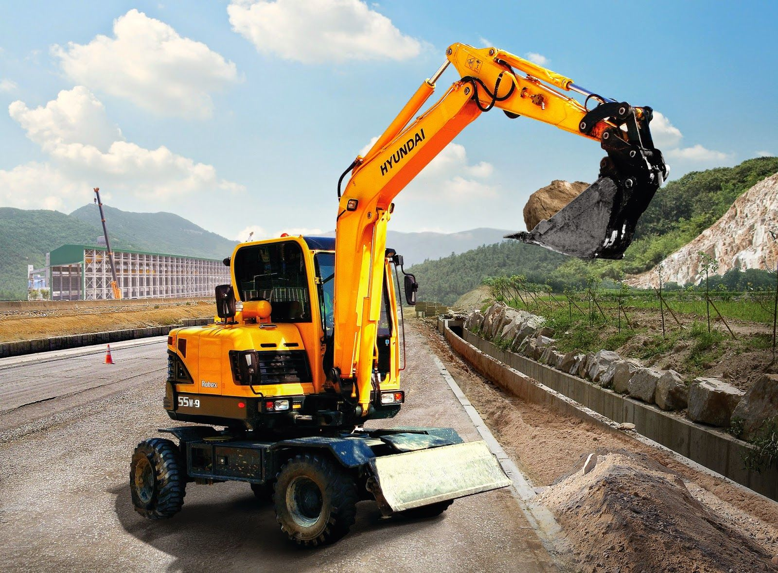 Hyundai Excavators R55W-9 - Alat Berat R55W-9 WHEELED EXCAVATOR The R55W-