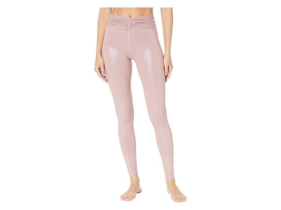 Women Leggings High Waist Pearls Mesh Skinny Ventilation Print Pencil Pants