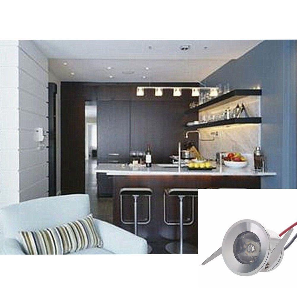 10x 3w Led Mini Spot Encastrable Lampe Cupboard Comptoir Bar Vitrine 6000k 220v Ebay Cupboard Lampen Compto Showcase Cabinet Cabinet Lighting Home Decor