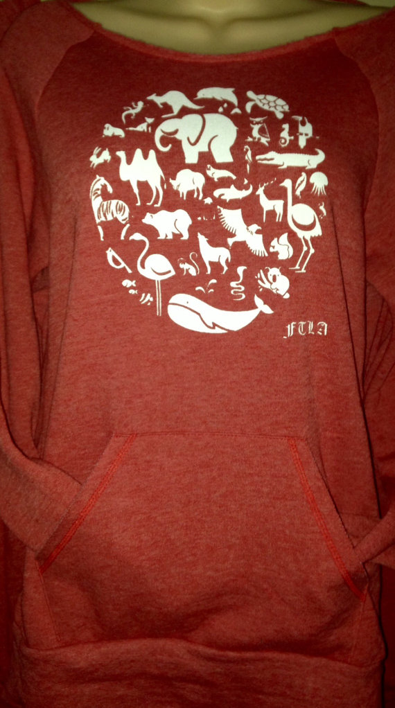 19a2ca00c3c9a Co-Exist Eco Red FTLA Apparel Off the Shoulder Sweatshirt Eco Friendly