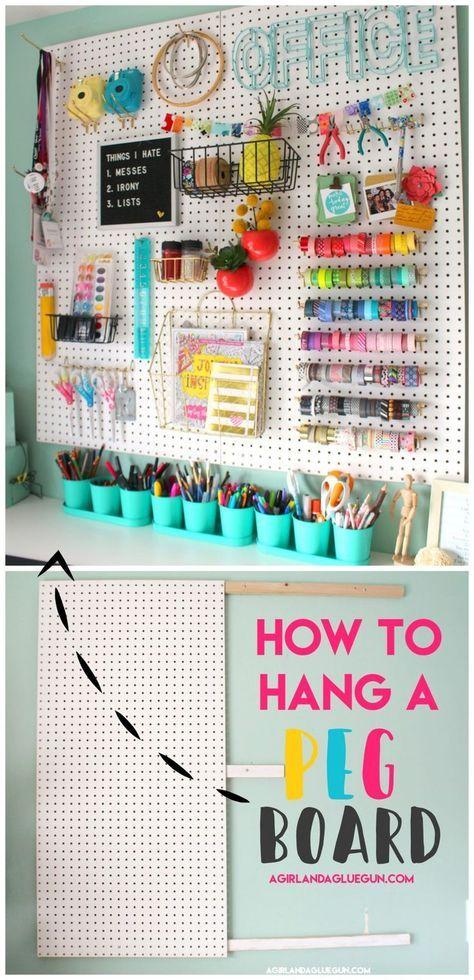 Ich organisiere meinen Bastelraum – Ein Mädchen und eine Klebepistole