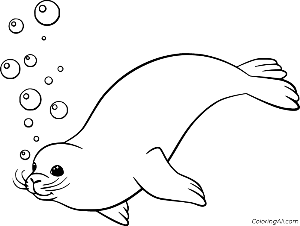 34 Free Printable Seal Coloring Pages In Vector Format Easy To Print From Any Device And Automatically Fit Any Paper In 2021 Coloring Pages Cute Seals Simple Cartoon
