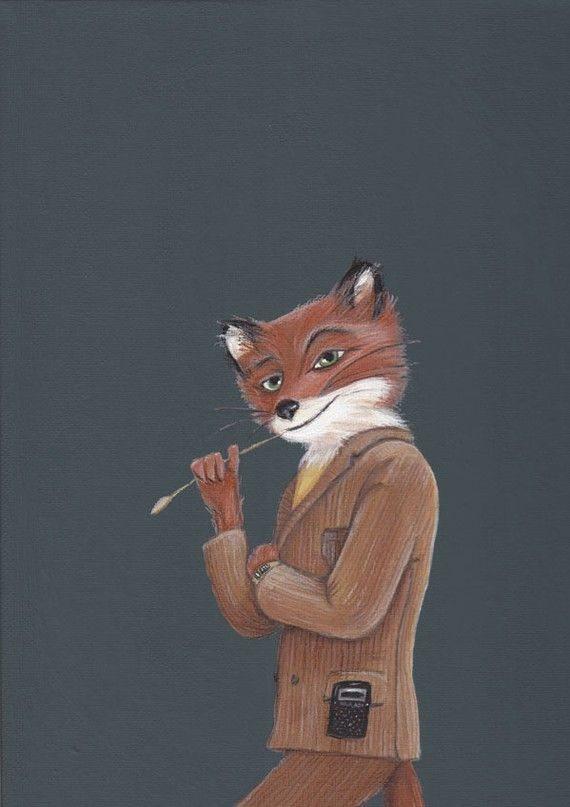 Fantastic Mr Fox Print by TheBlackSheepStudio on Etsy, $18.00..I love this book and the movie!
