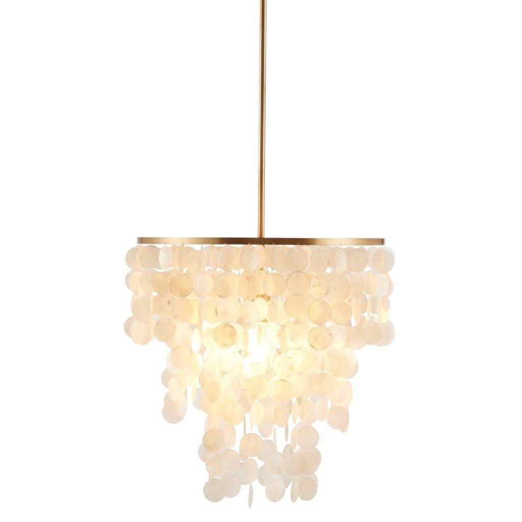Isla Capiz Shell Chandelier Lit Capiz Shell Chandelier Pendant Ceiling Lamp Shell Chandelier