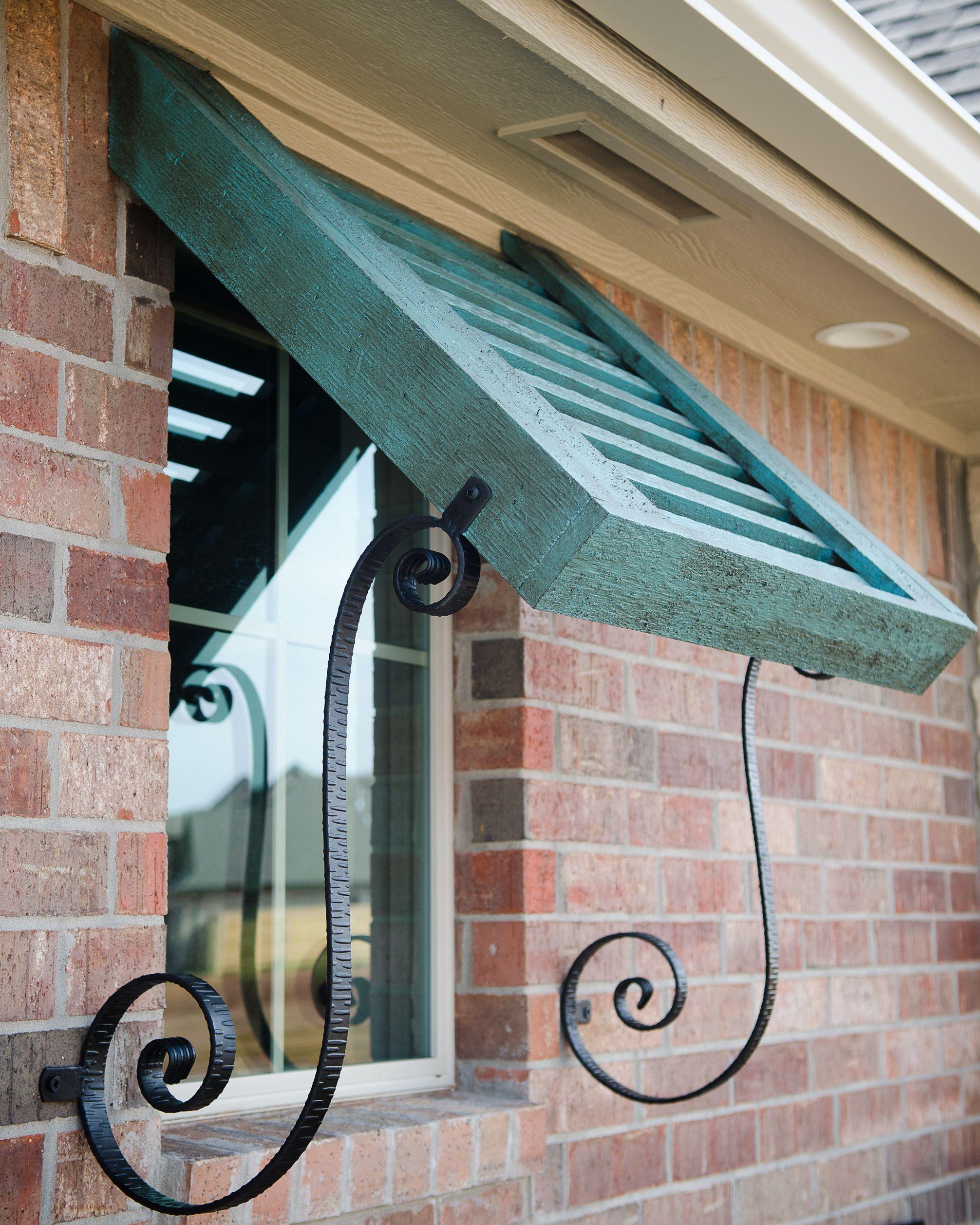 Beacon Custom Home: Turquoise Bermuda Shutter
