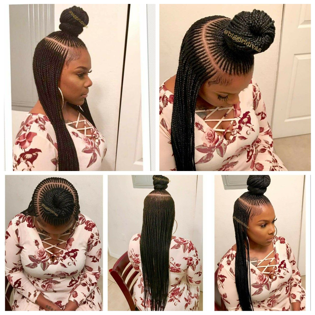 i saw these on facebook, ket braids is what they are called. the