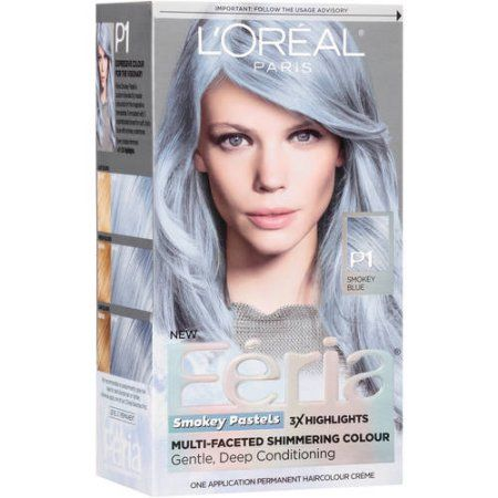 Beauty Silver Hair Dye Permanent Hair Color Dyed Hair Blue