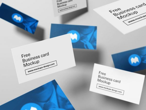 All free mockups mockup and billboard signs showcase your business card designs with this free flying style business card mock up psd this mock up is fully editable designed in photoshop reheart Images