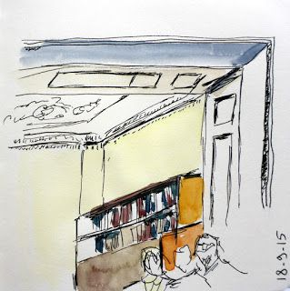 #sketchbookskool - MHBD's Blog: Sketchbook Skool - Drawing in public - With watercolour